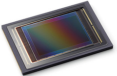 photograph of a cmos image sensor as used in digital cameras and movie cameras