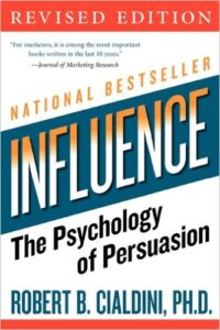 The cover of the book 'Influence The Psychology of Persuasion, Revised Edition by Robert B. Cialdini